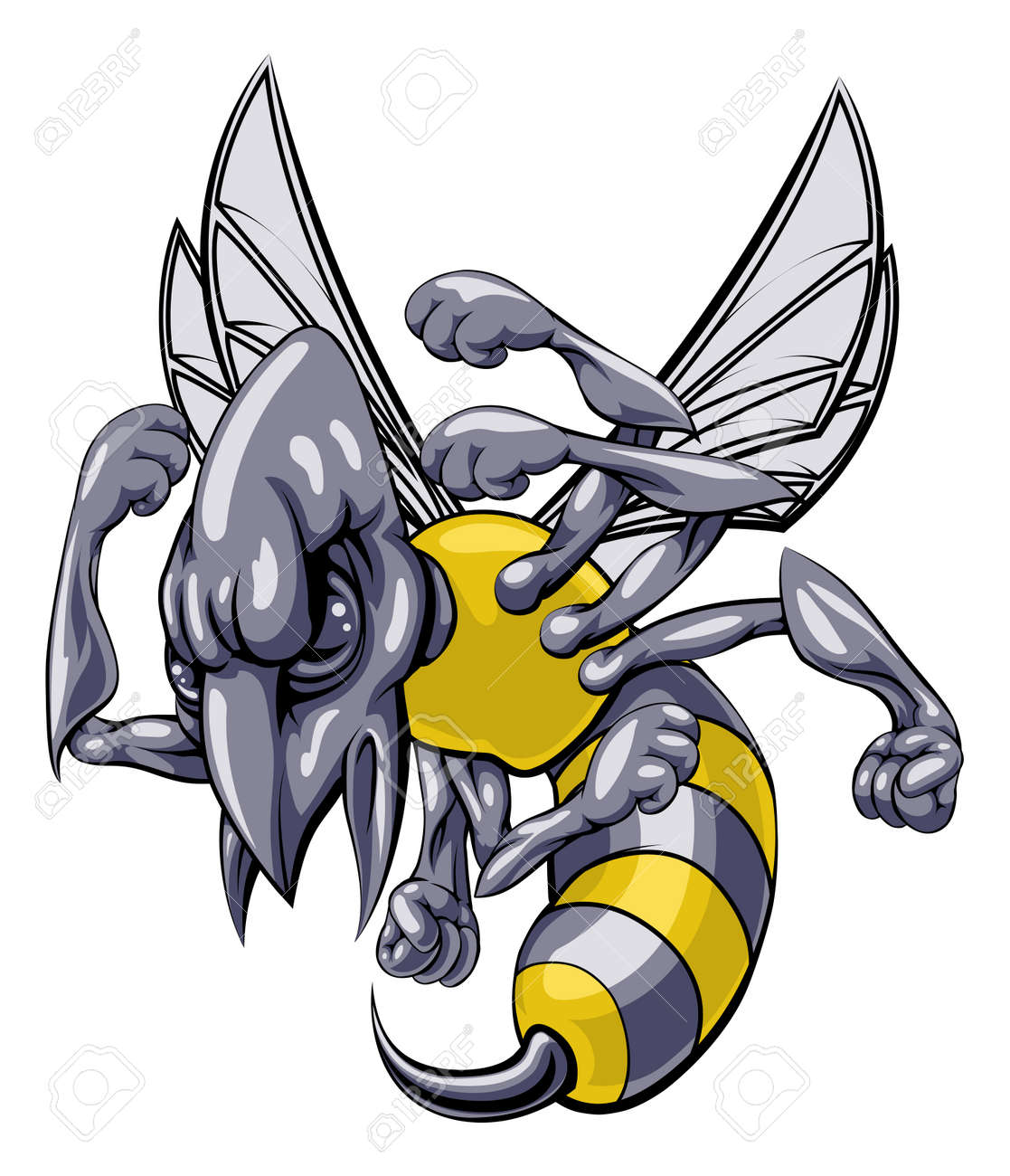 12,853 Wasp Stock Vector Illustration And Royalty Free Wasp Clipart