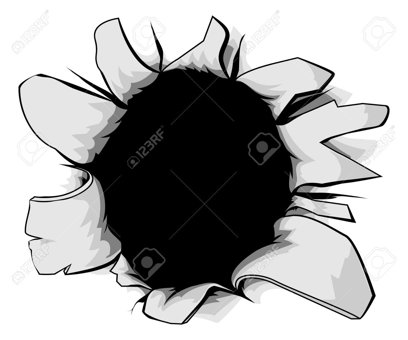 A Torn Circular Hole Perhaps A Bullet Hole From A Gunshot Royalty Free Cliparts Vectors And Stock Illustration Image 31074167 Bullet cartoon png collections download alot of images for bullet cartoon download free with bullet cartoon free png stock. a torn circular hole perhaps a bullet hole from a gunshot