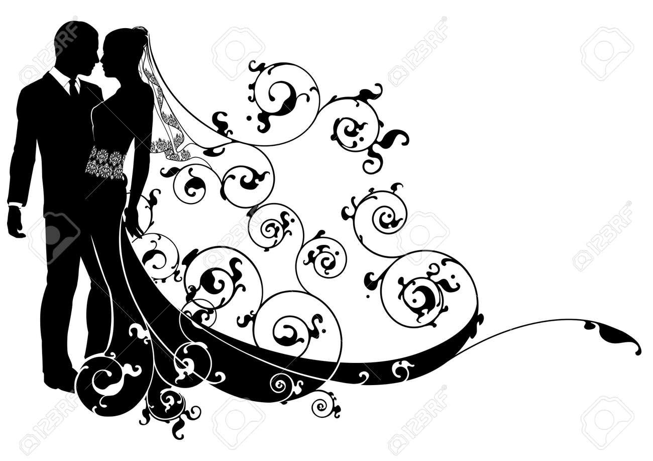 またはにキスの花嫁と新郎ダンス結婚式イラストのイラスト素材ベクタ