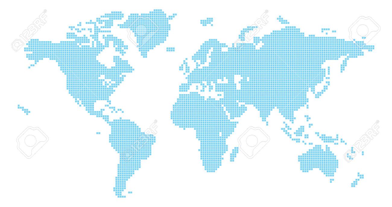 Squares world map illustration of world map made up of square squares world map illustration of world map made up of square shapes stock vector 33869114 gumiabroncs Choice Image