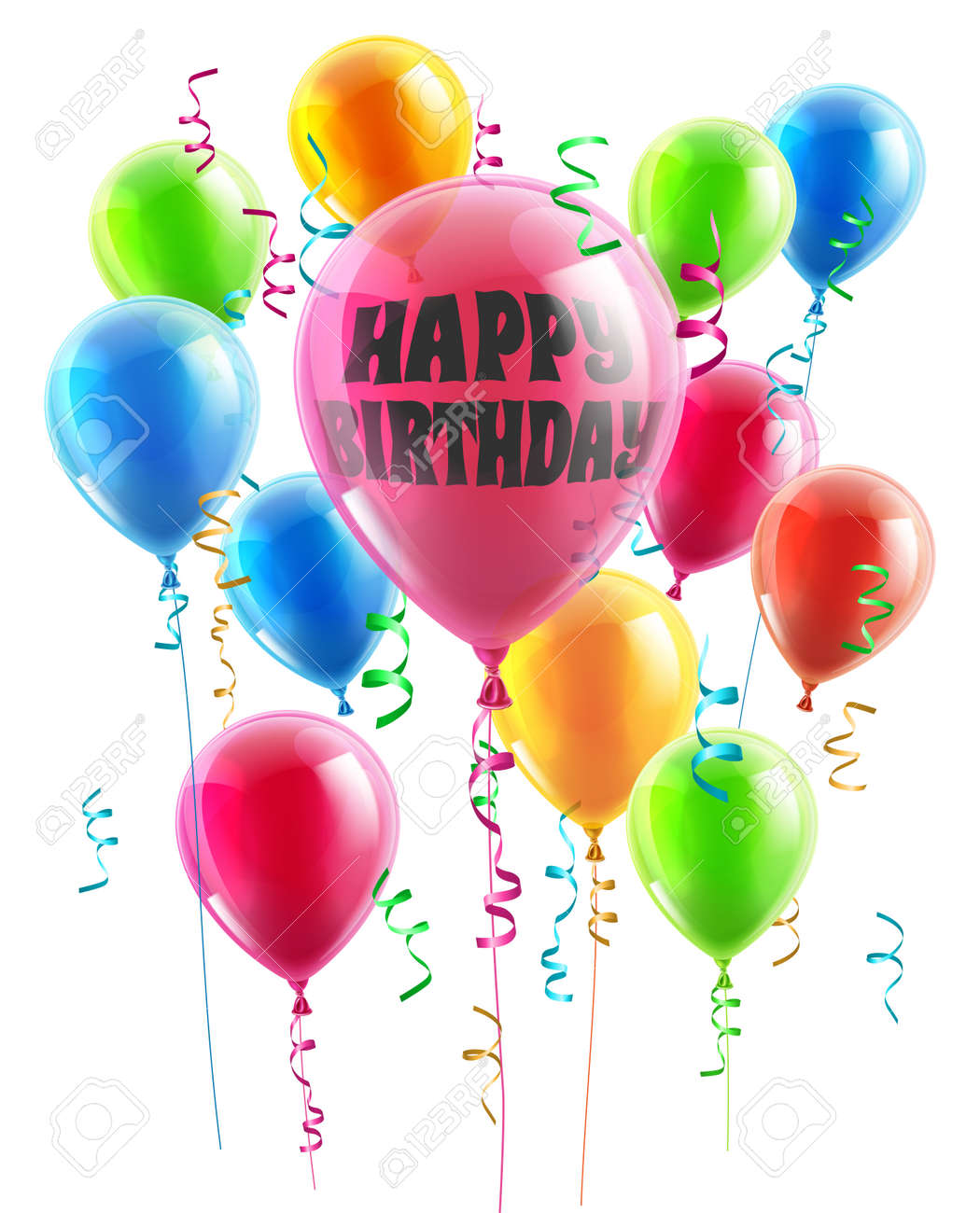 Happy Birthday Balloons Stock Photos & Pictures. Royalty Free ...
