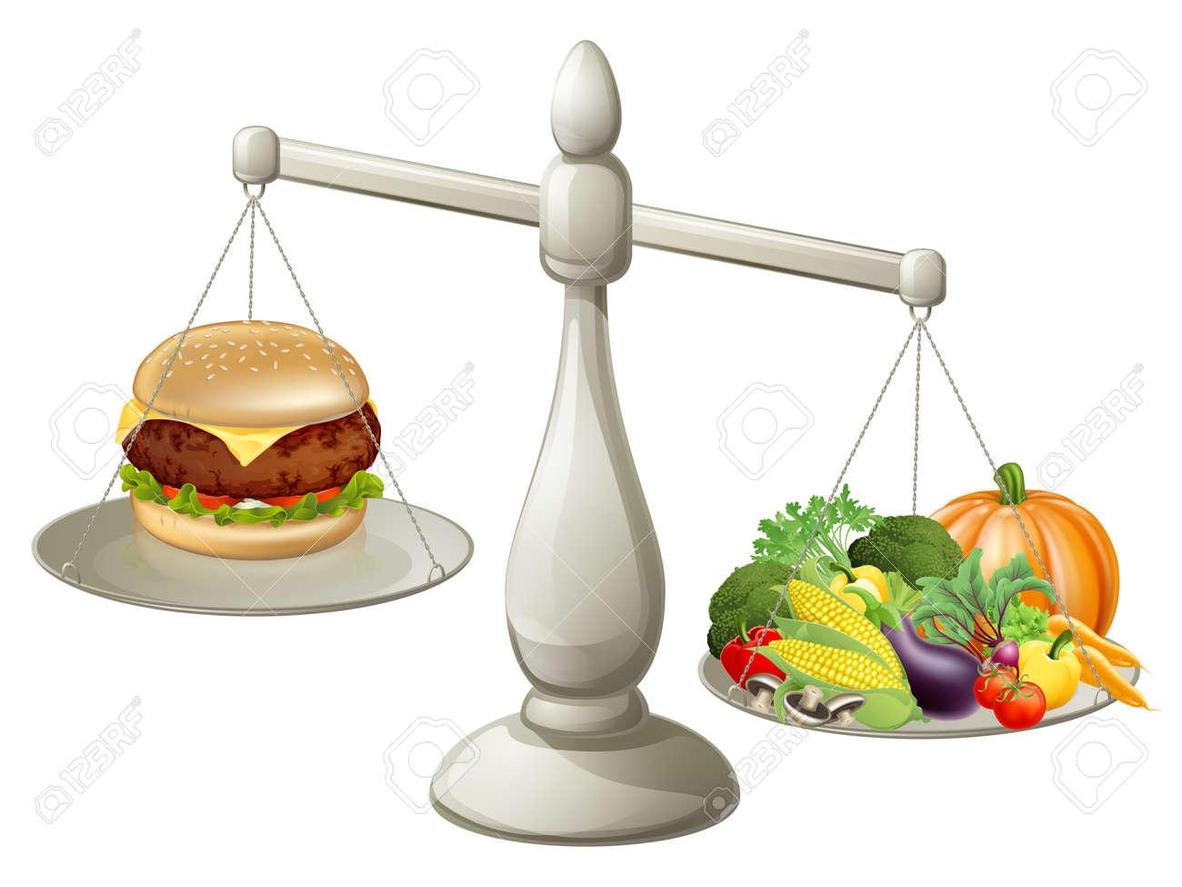 Equilibrada sana y una comida