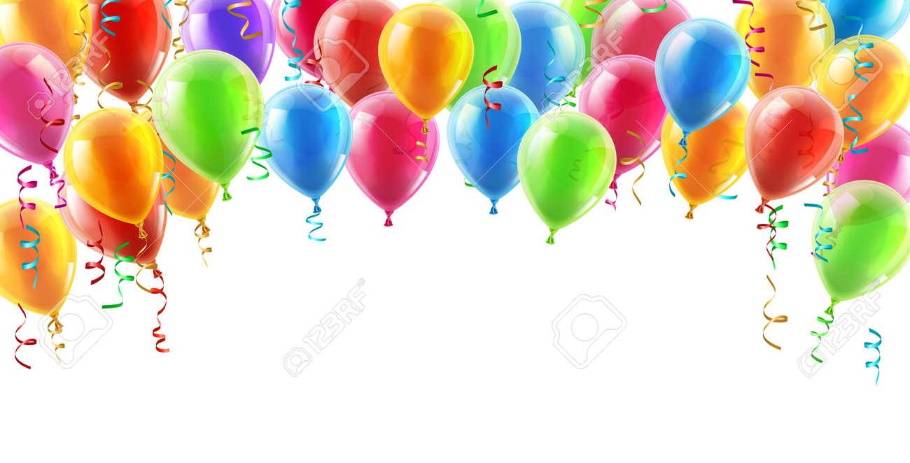Ballons Header Fond élément De Design De Lanniversaire Ou La Fête Des Ballons