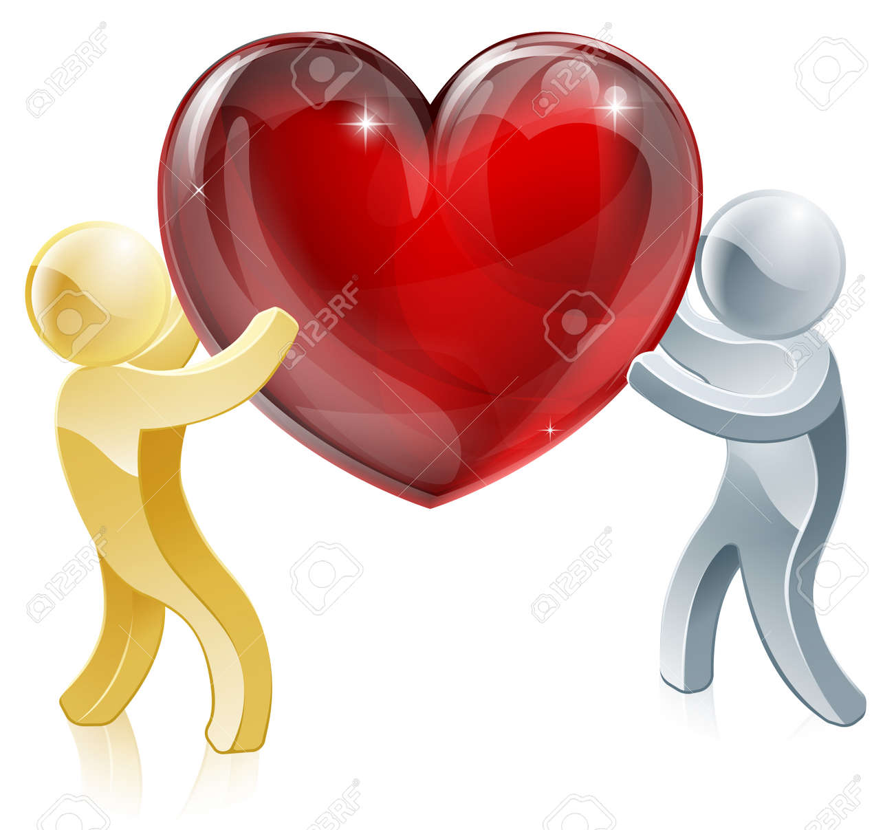 Holding heart love symbol illustration of two people mascots holding heart love symbol illustration of two people mascots holding a big heart stock vector buycottarizona Image collections