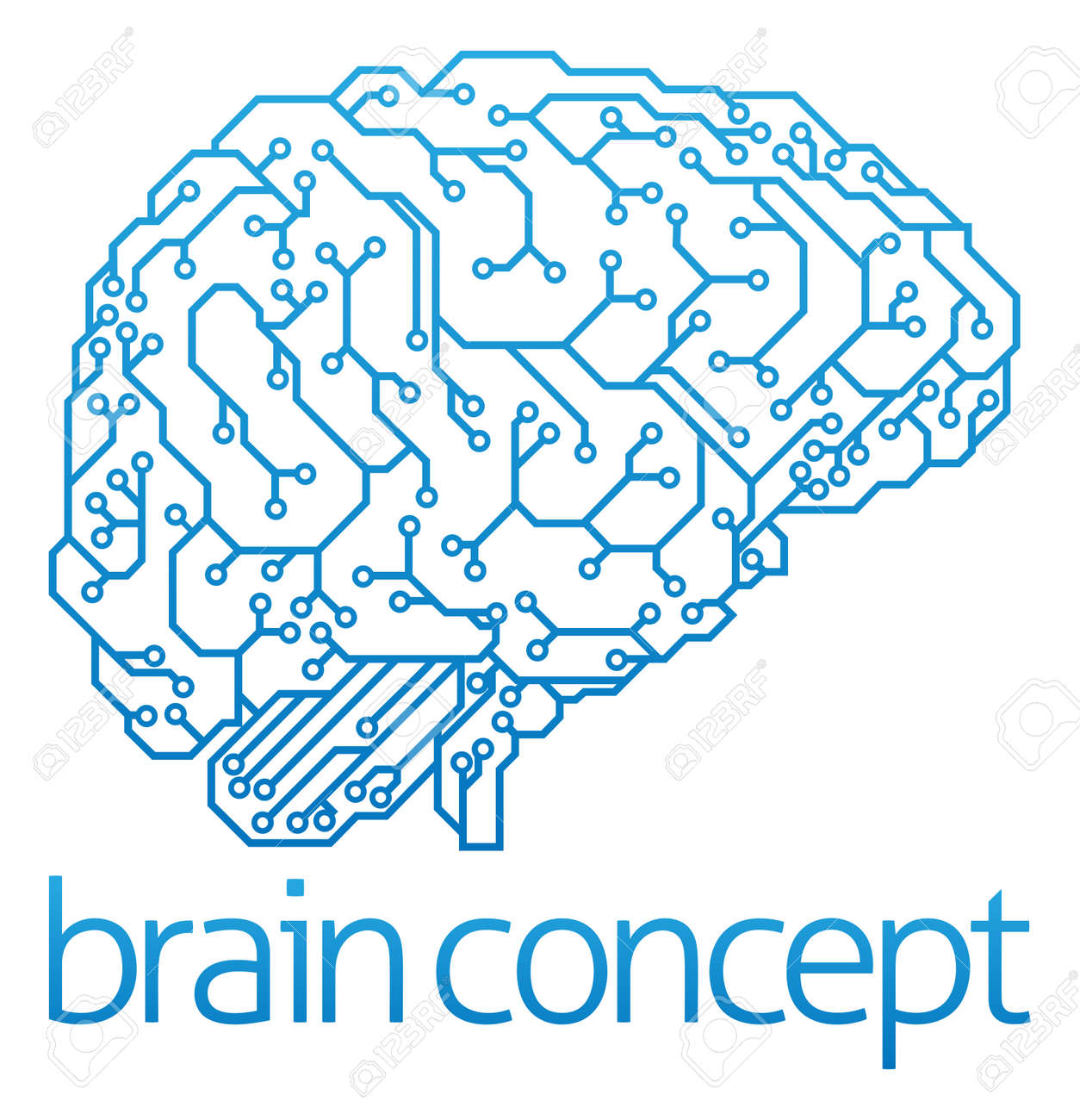 11600 Electronic Healthcare Cliparts Stock Vector And Royalty Free Circuit Board Graphic Design Grunge Photos An Abstract Illustration Of Brain In Profile Ai Artificial Intelligence Concept