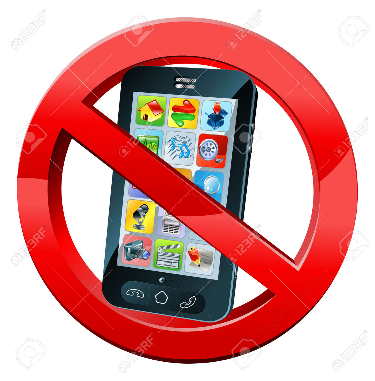 Perfect A No Mobile Phone Or Please Turn Off Phones Sign With A Mobile  EA16