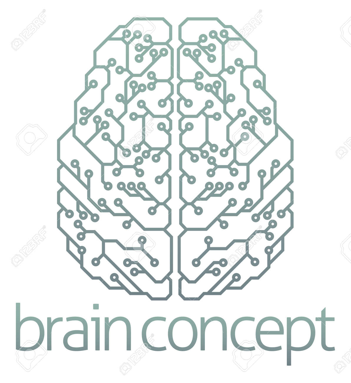 1181 Neuro Stock Illustrations Cliparts And Royalty Free Vectors Circuit Board Binary Code Vector Clipart Transmission Of An Abstract Illustration A Brain Computer Concept Design