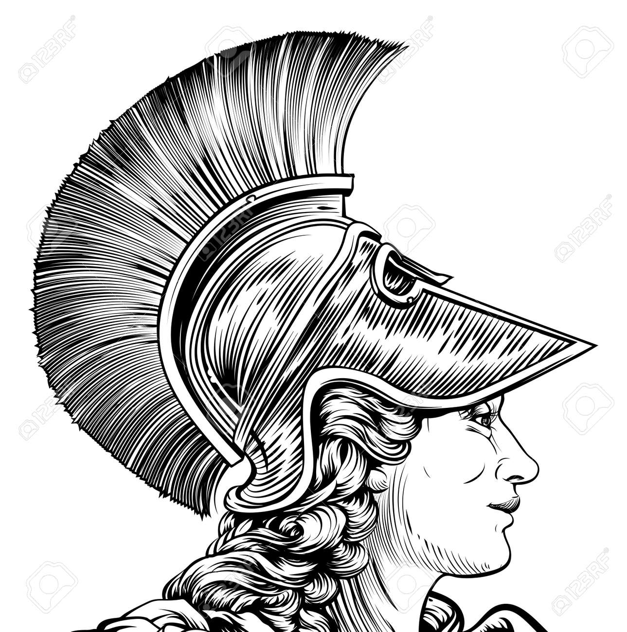 153 greek goddess athena stock vector illustration and royalty an ancient greek warrior woman in vintage style possible athena hera or britannia biocorpaavc