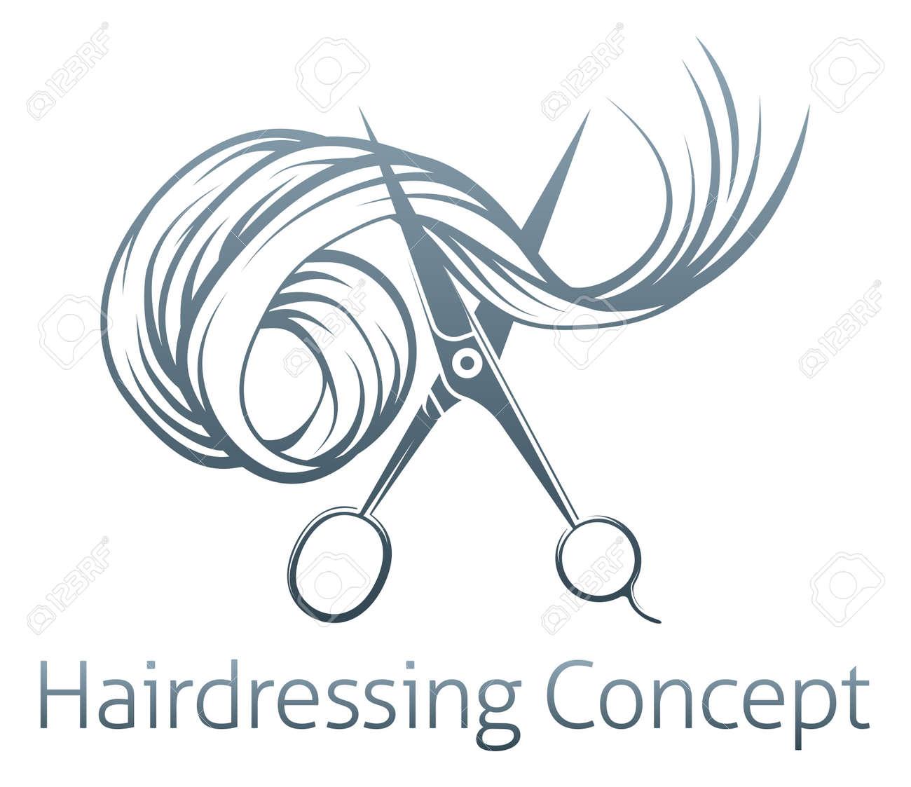 Tijeras para corte de cabello concepto