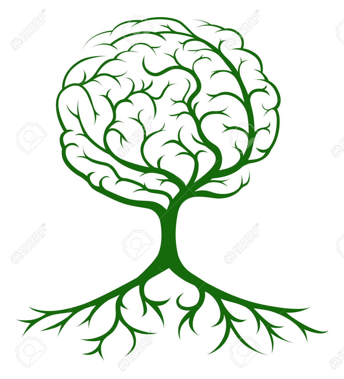 3,293 Brain Tree Stock Illustrations, Cliparts And Royalty Free ...