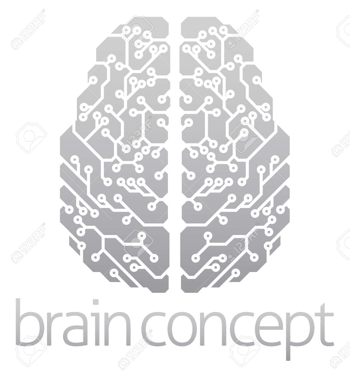 36394 Artificial Intelligence Stock Vector Illustration And Royalty Circuit Board Binary Code Clipart Transmission Of An Abstract Electronic Brain Ai Concept