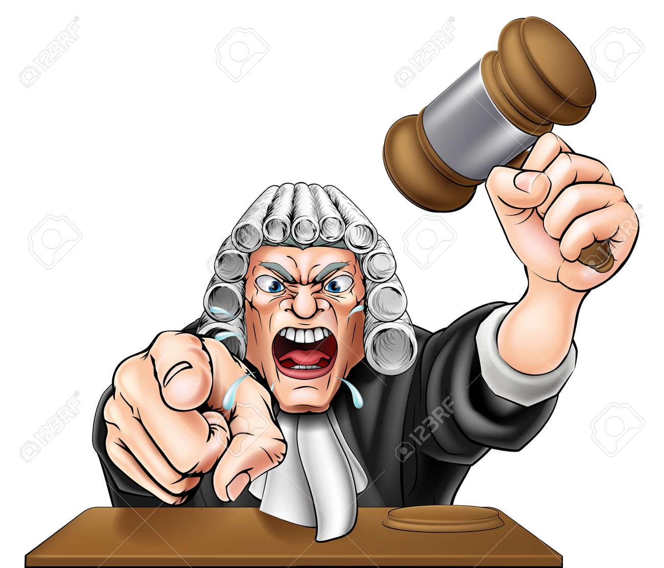 an illustration of an angry judge cartoon character shouting rh 123rf com Cartoon Court Jail Clip Art