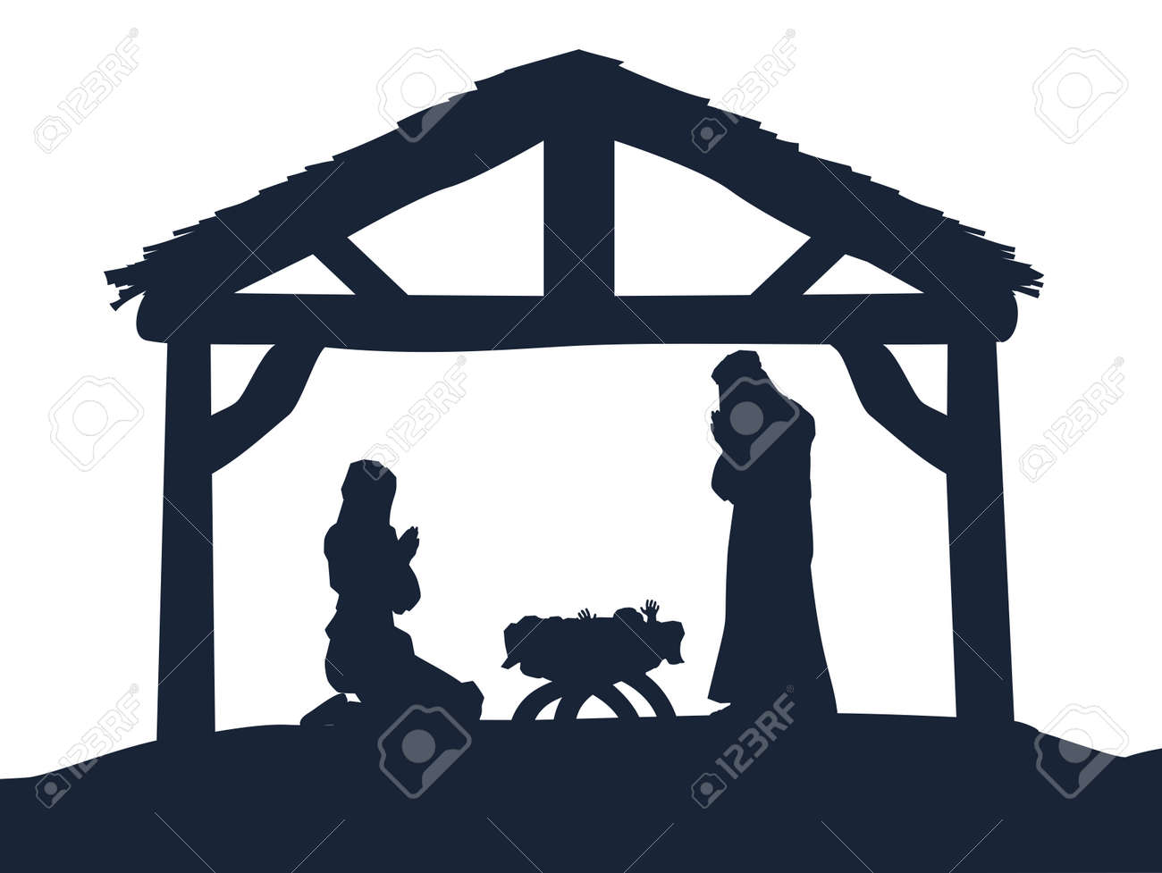 5 237 nativity scene stock vector illustration and royalty free rh 123rf com manger scene clip art free manager scene clip art