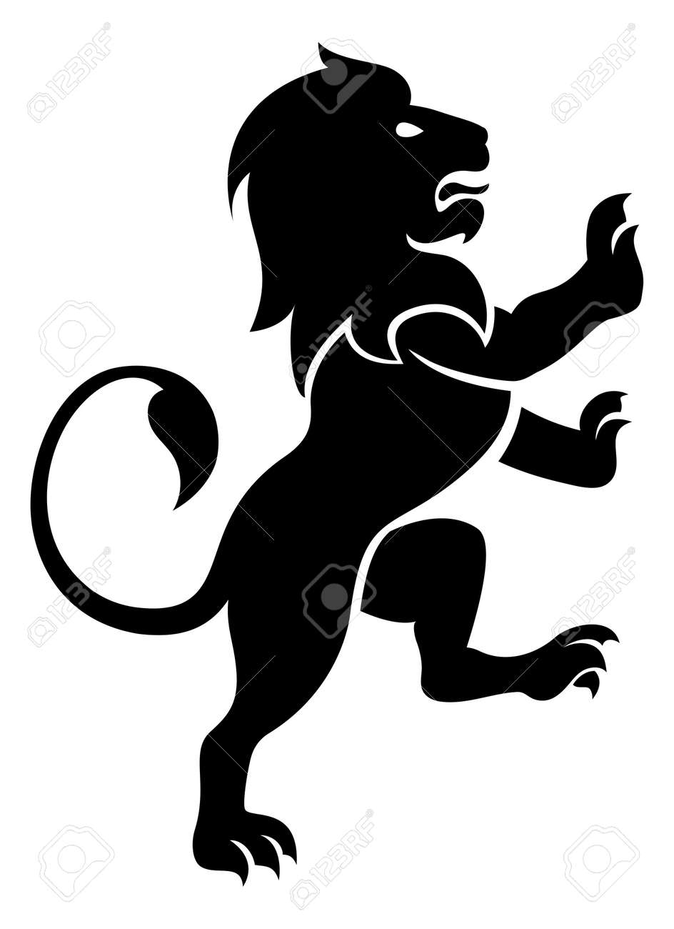A stylised lion rampant like the symbol for leo royalty fri a stylised lion rampant like the symbol for leo stockfoto 53120617 biocorpaavc