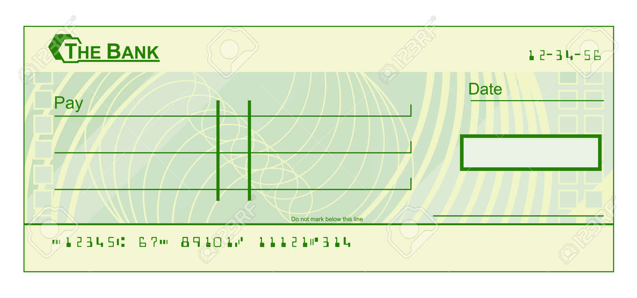 A Blank Cheque Check Template Illustration Stock Vector   54229109
