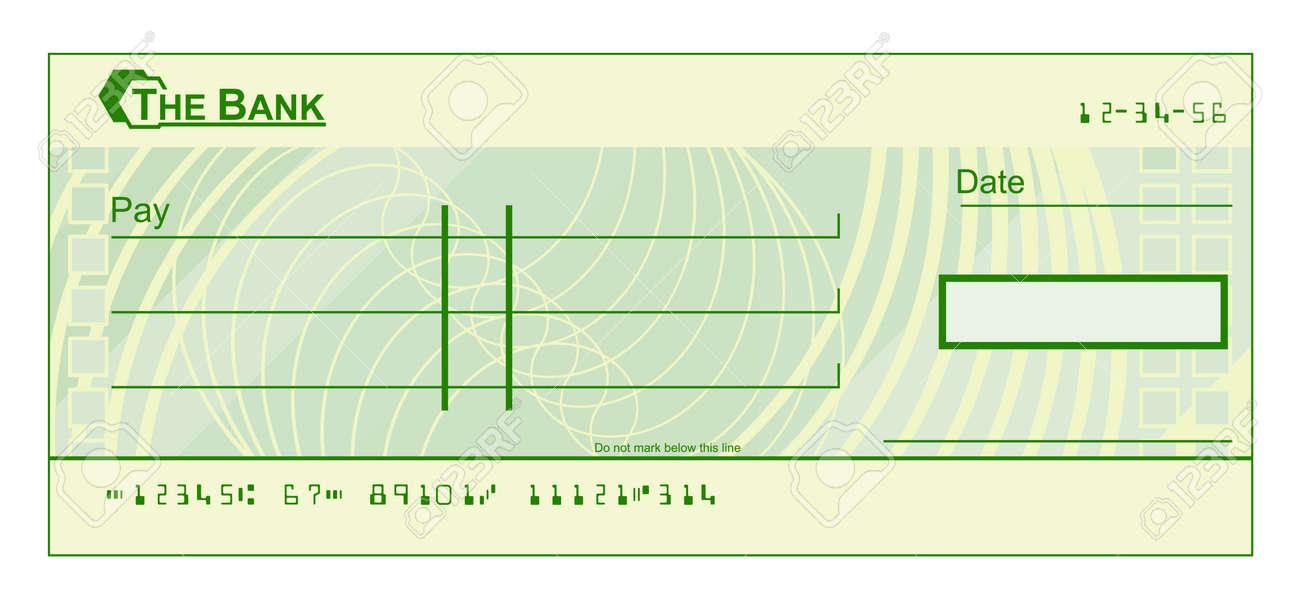 Un Cheque En Blanco Plantilla De Verificación De La Ilustración ...