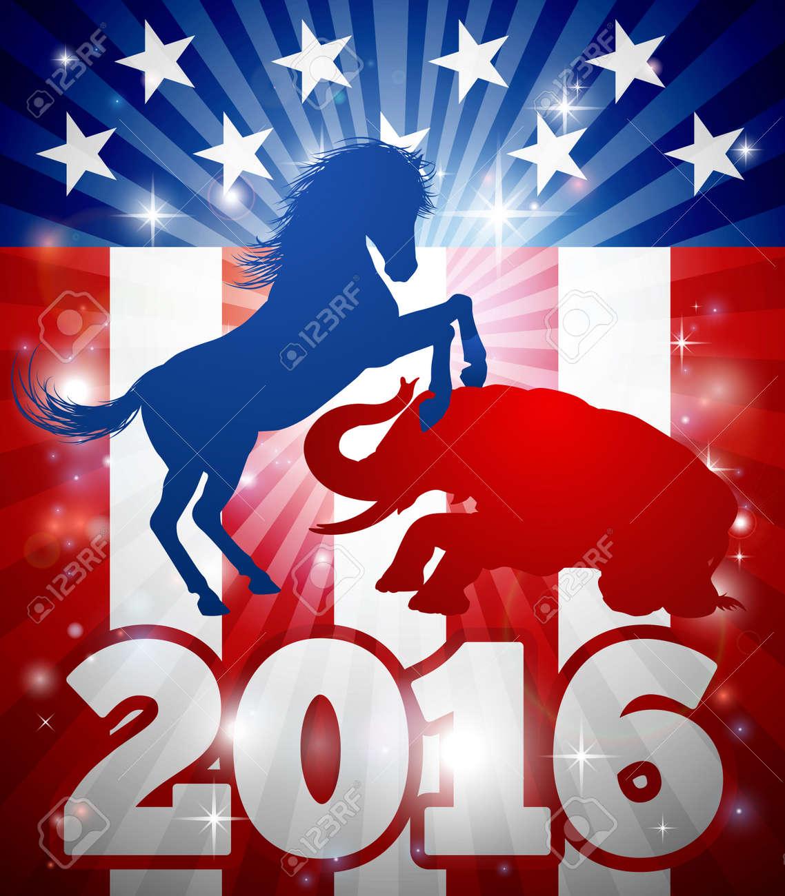 Mascot animals of american democratic and republican parties mascot animals of american democratic and republican parties blue donkey and red elephant in silhouette buycottarizona