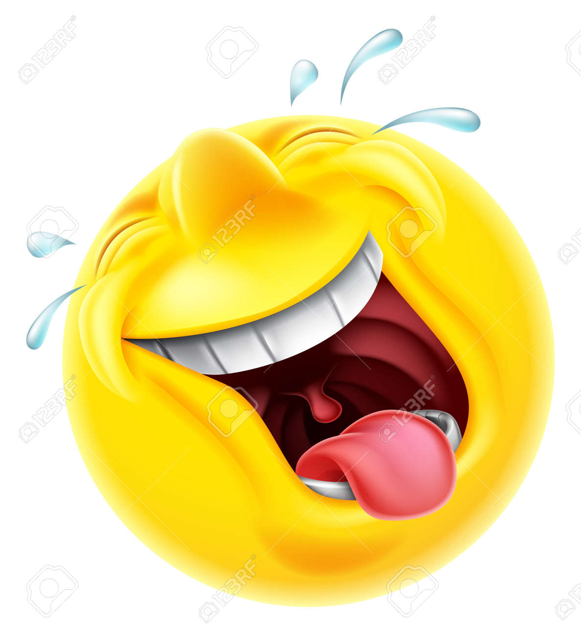 a very happy laughing emoji emoticon smiley face character laughing