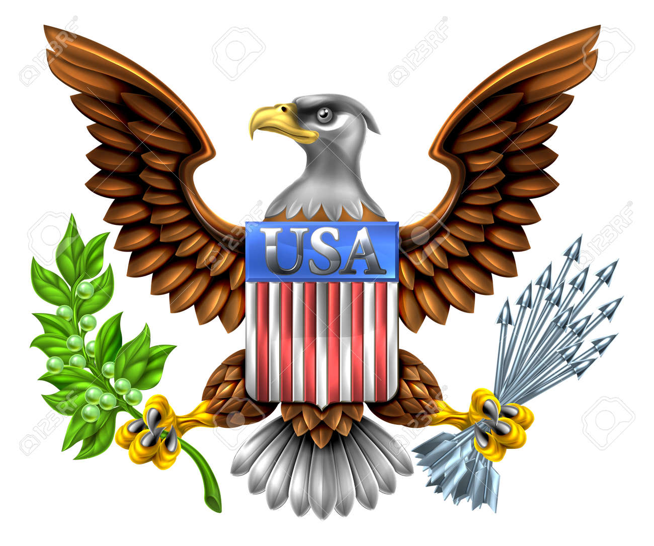 american eagle design with bald eagle like that found on the rh 123rf com american flag eagle clip art american flag eagle clip art