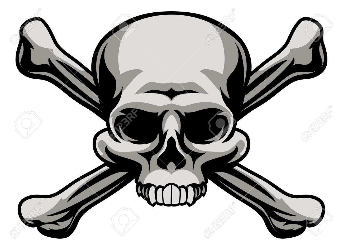 a skull and crossbones illustration like a pirates jolly roger rh 123rf com  jolly roger flag clipart
