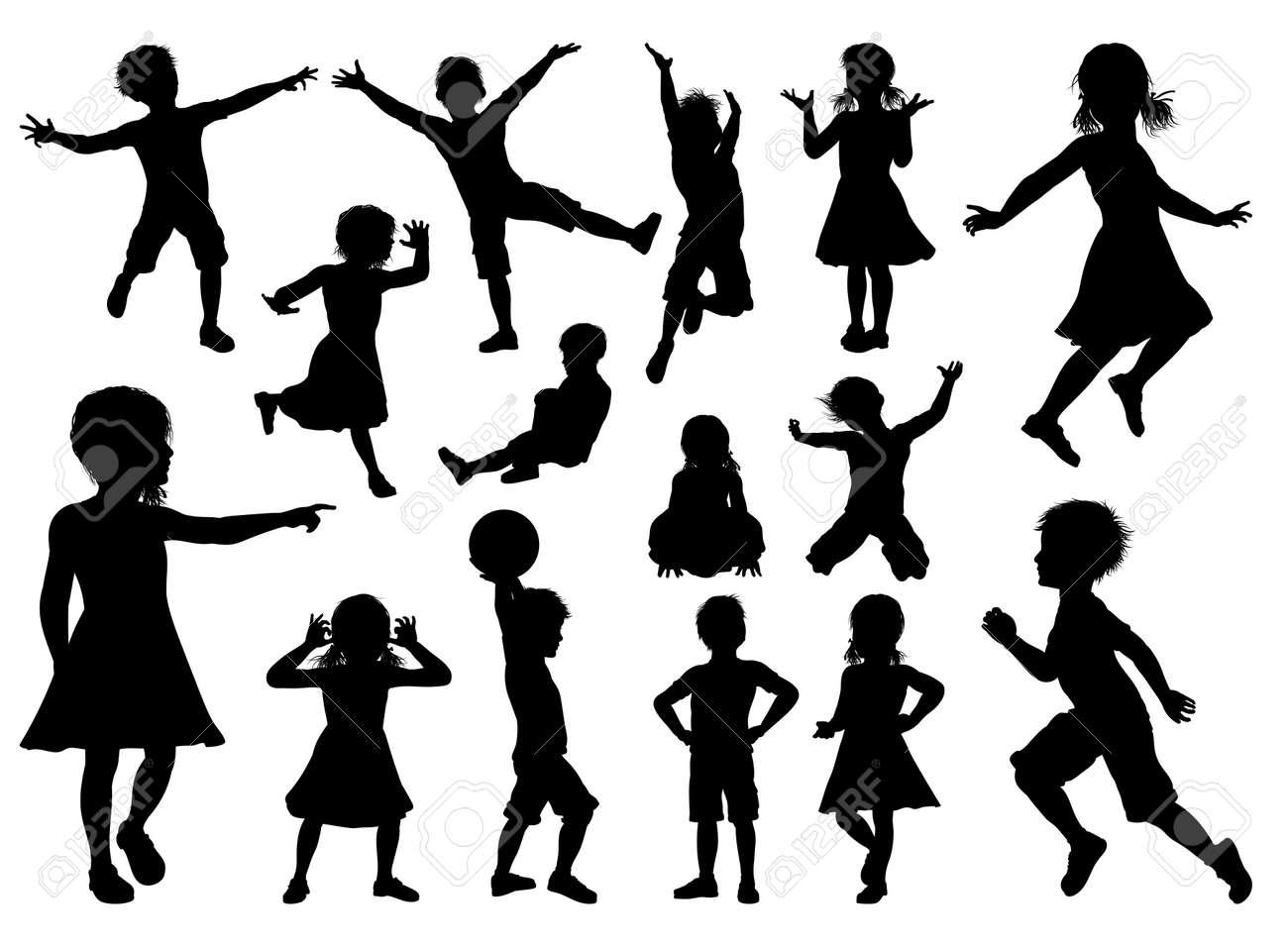 Children Silhouette Set - 84185307