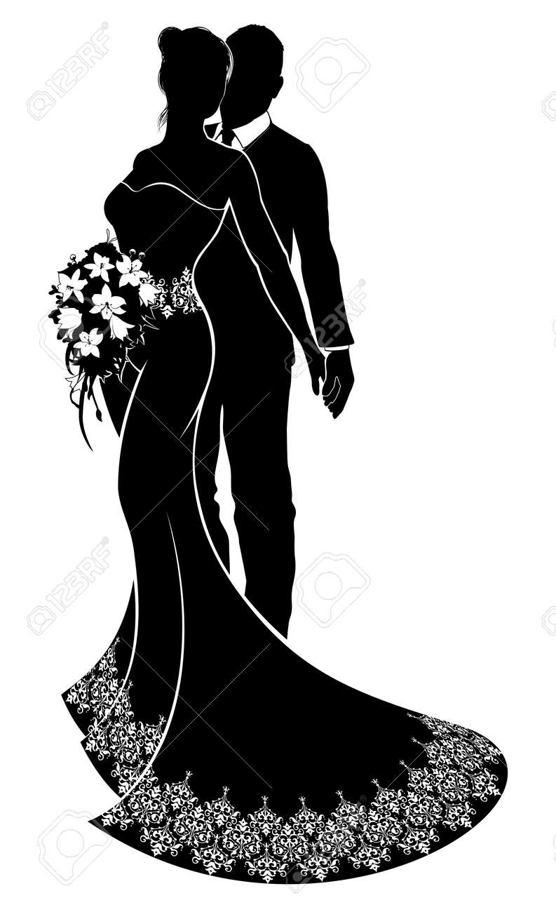 Bride and groom wedding silhouette royalty free cliparts vectors bride and groom wedding silhouette stock vector 88284797 junglespirit Gallery