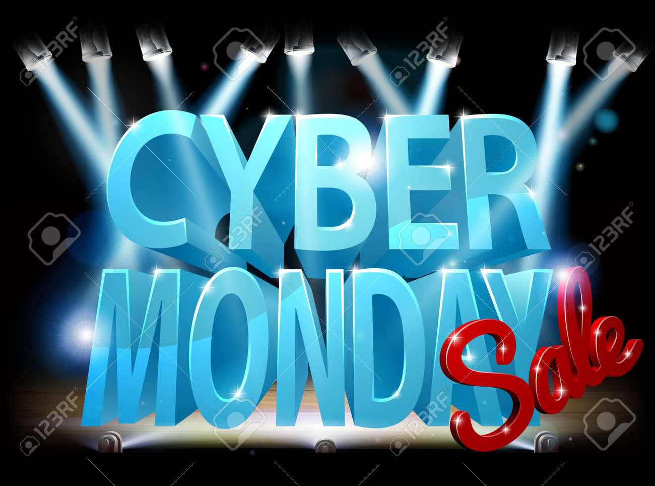 Cyber Monday Sale Stage Sign - 89934088