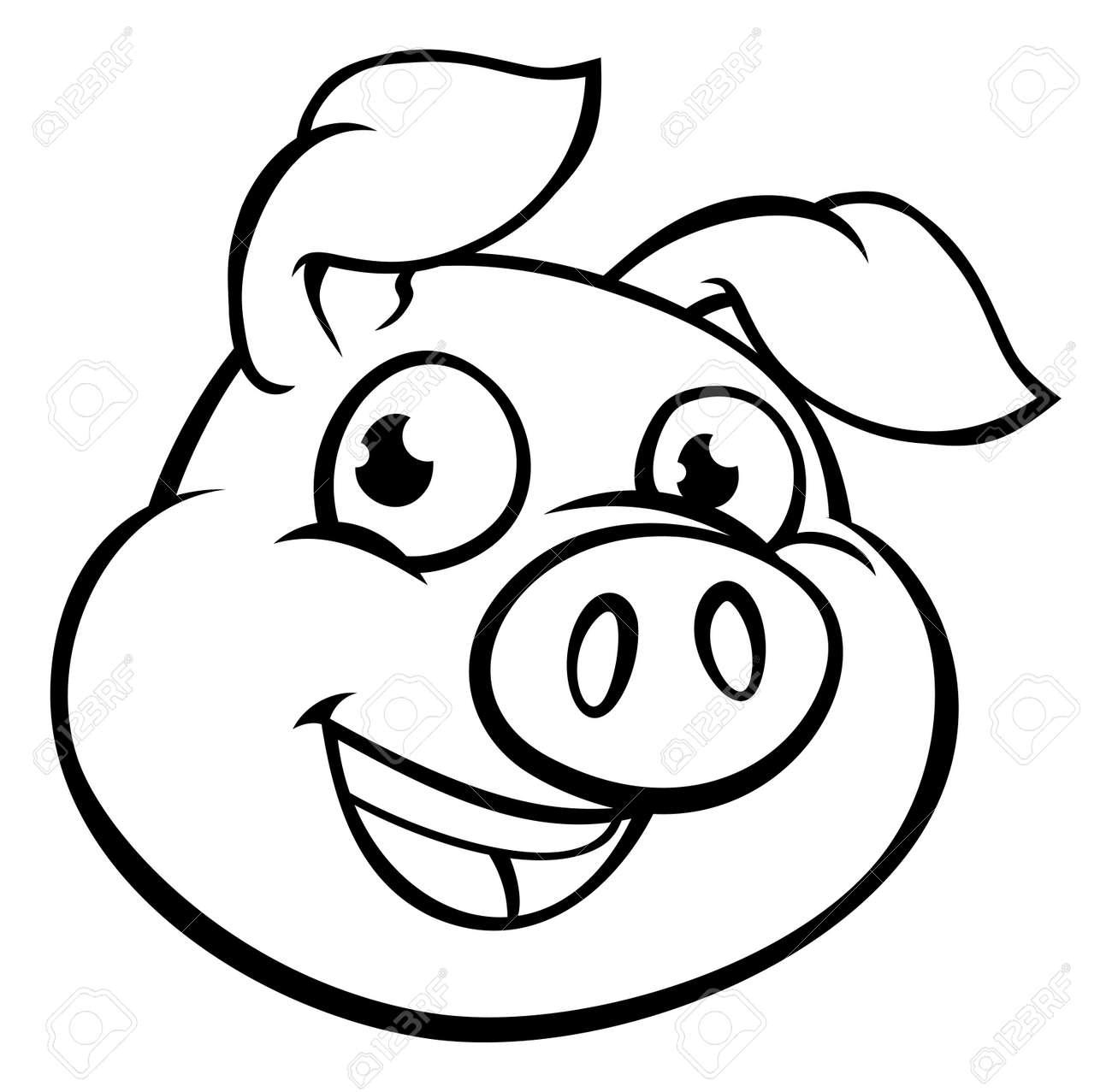 Cartoon Pig Mascot Character - 89934098