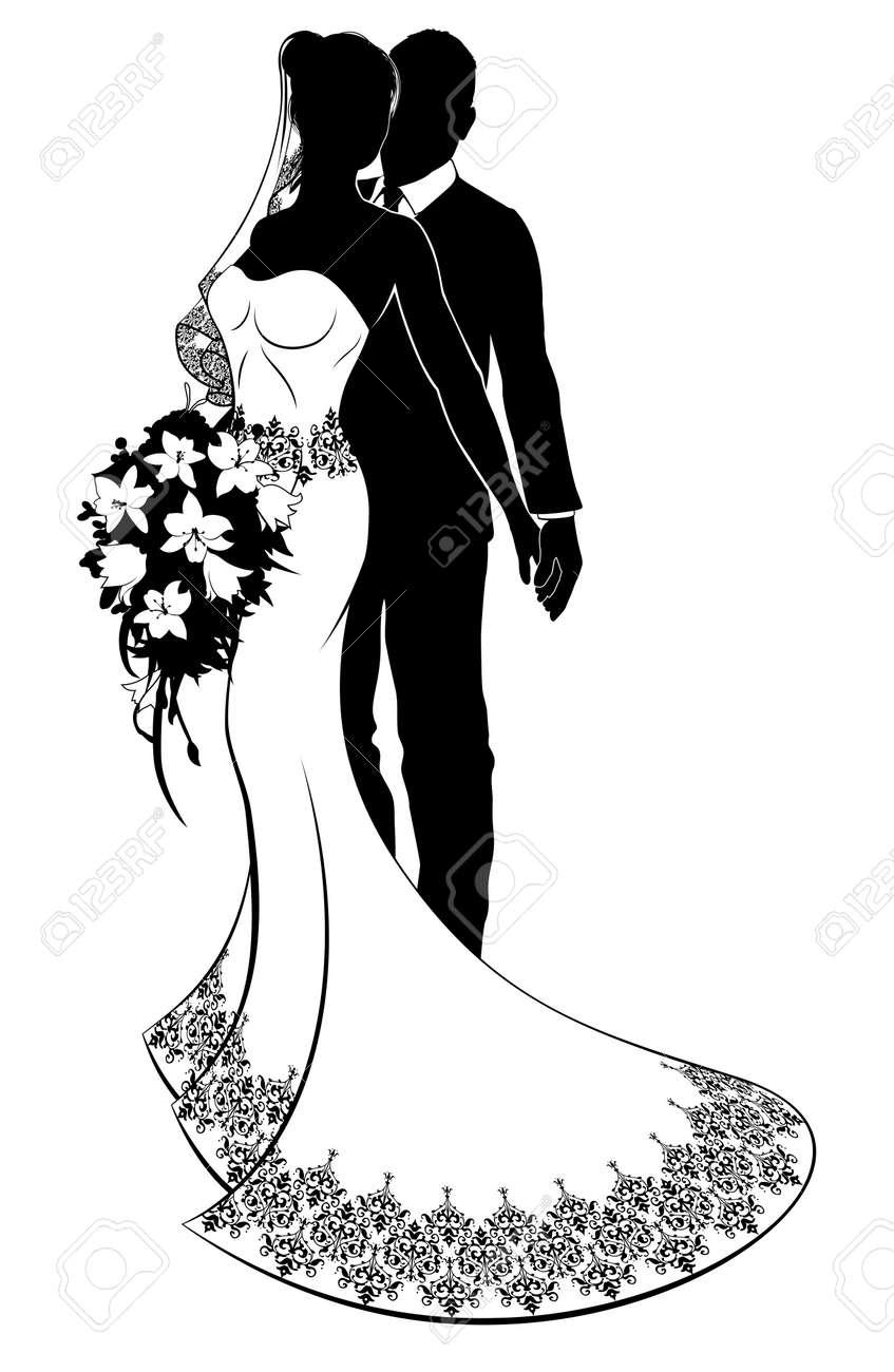 Bride and groom wedding silhouette royalty free cliparts vectors bride and groom wedding silhouette stock vector 90388148 junglespirit Gallery