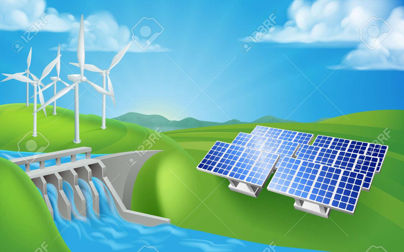 Renewable energy or power generation methods. - 93387120