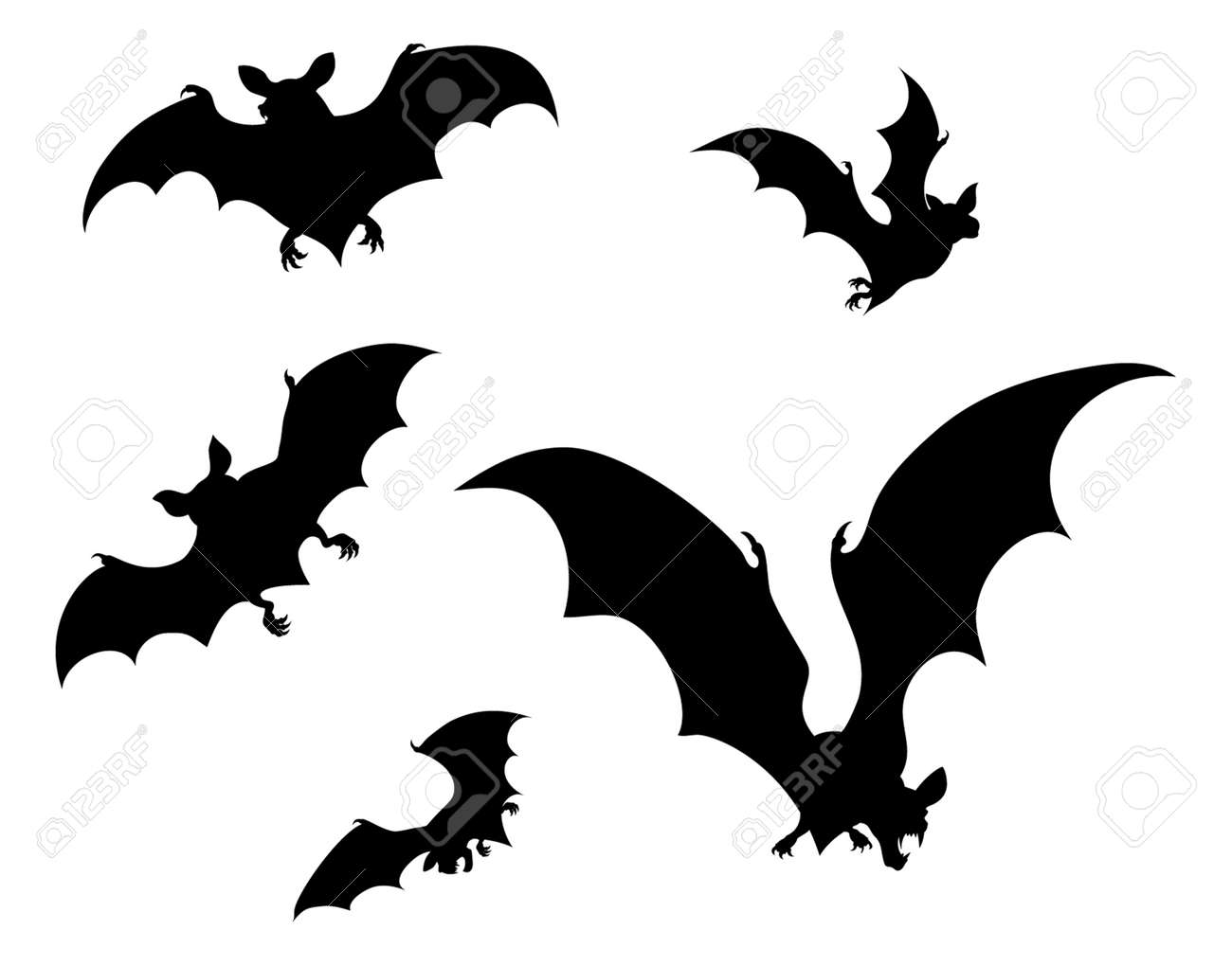 halloween bats silhouette stock vector 104604251