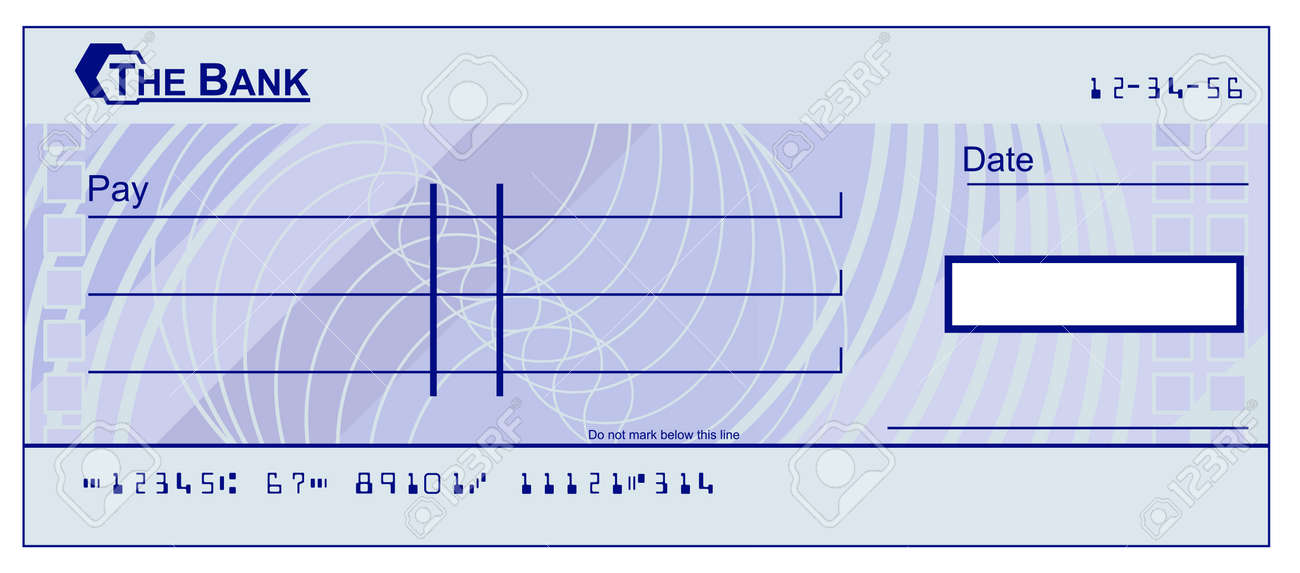 a blank cheque bank check book template illustration royalty free