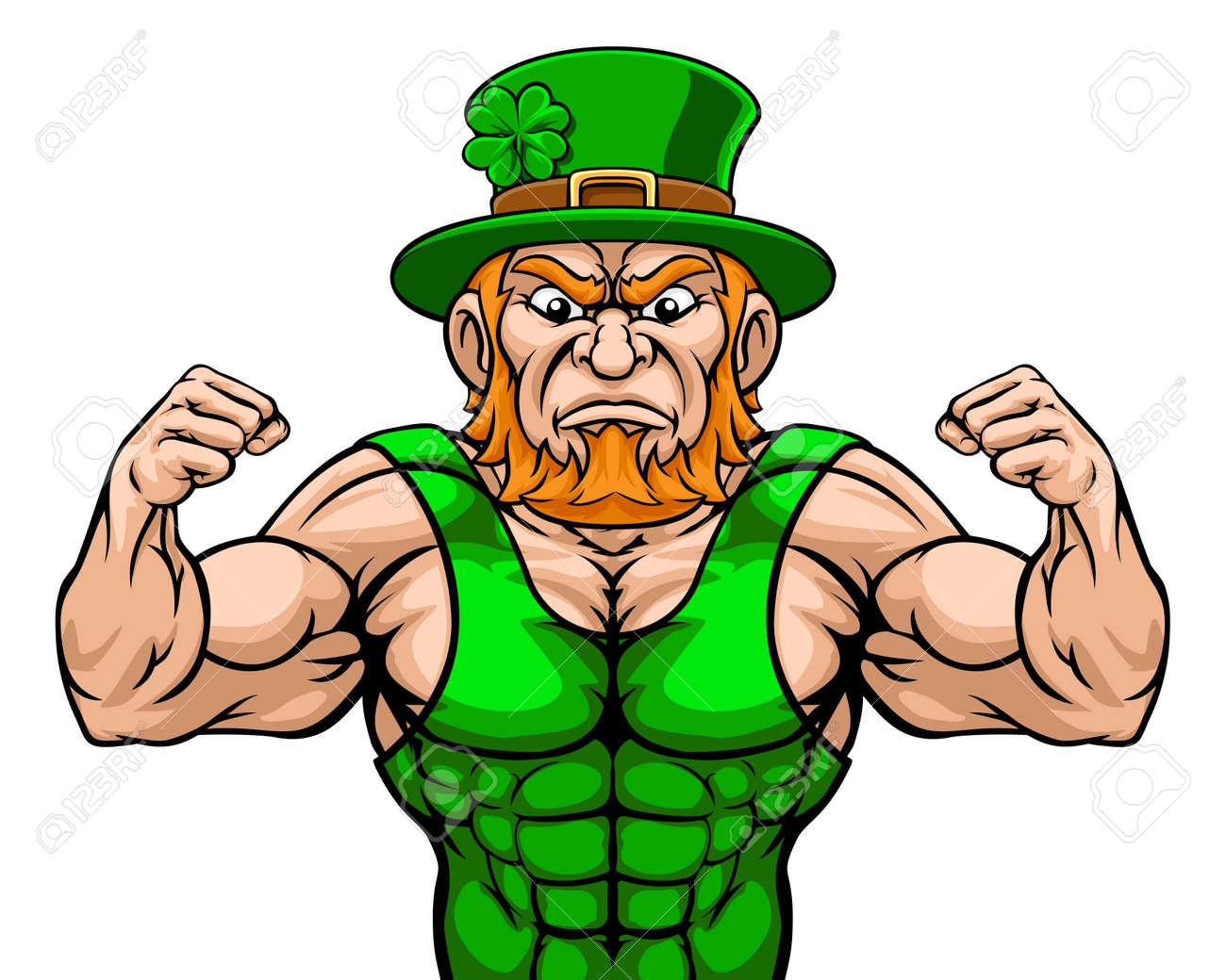 Leprechaun Sports Mascot Cartoon Character - 120675018