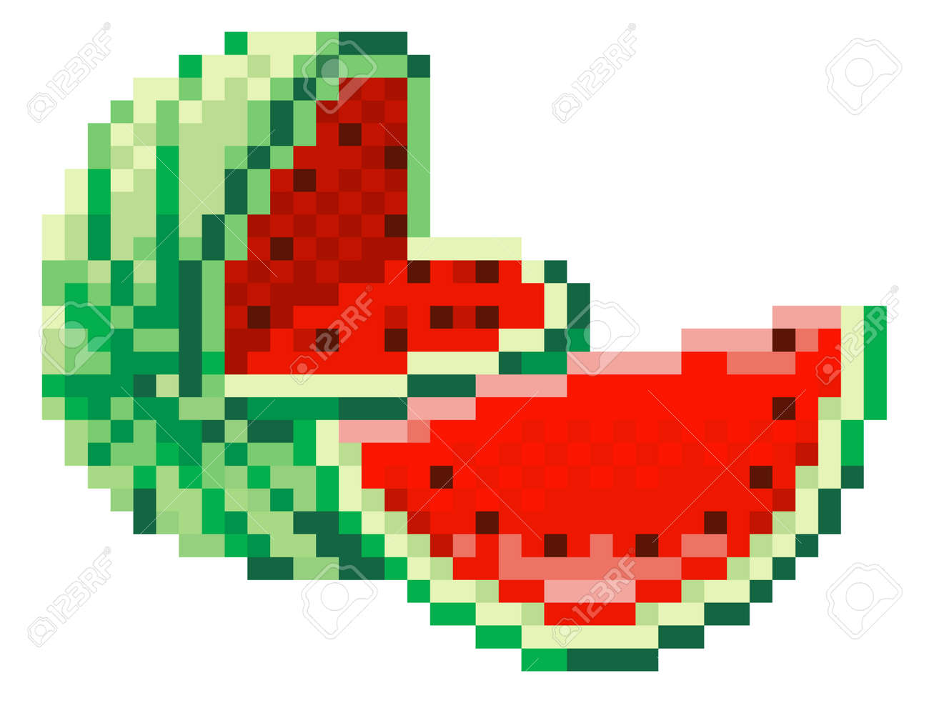 Watermelon Pixel Art