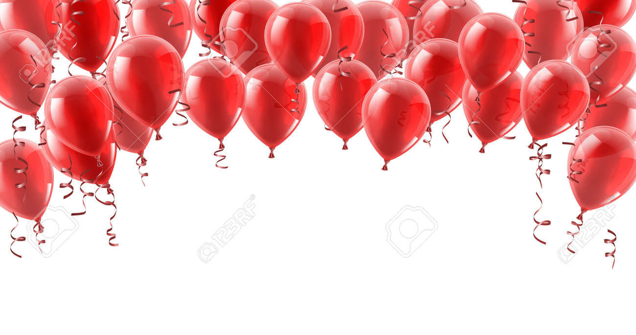 Red Party Balloons Background - 133966054