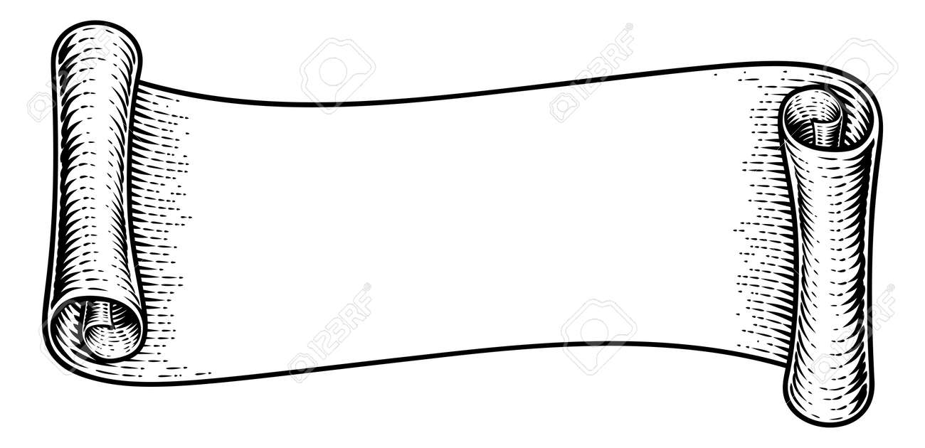 Scroll Vintage Flag Paper Banner Ribbon Woodcut Royalty Free Cliparts Vectors And Stock Illustration Image 143435207 Here you can explore hq scroll banner transparent illustrations, icons and clipart with filter setting polish your personal project or design with these scroll banner transparent png images, make it. https www 123rf com photo 143435207 stock vector scroll vintage flag paper banner ribbon woodcut html