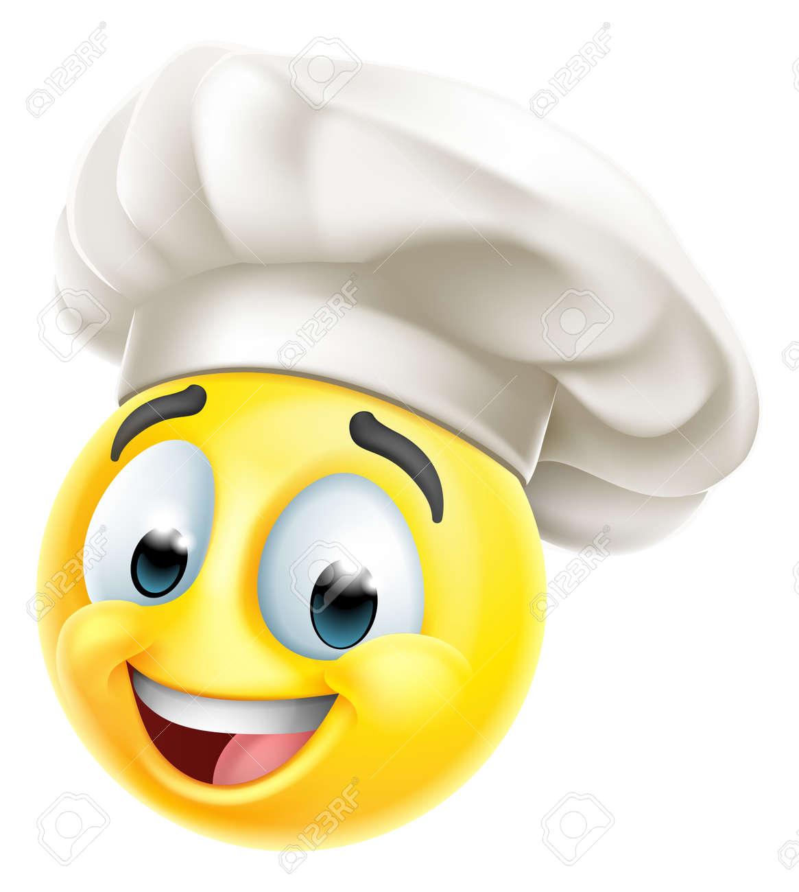Chef Emoticon Cook Cartoon Face - 167359255