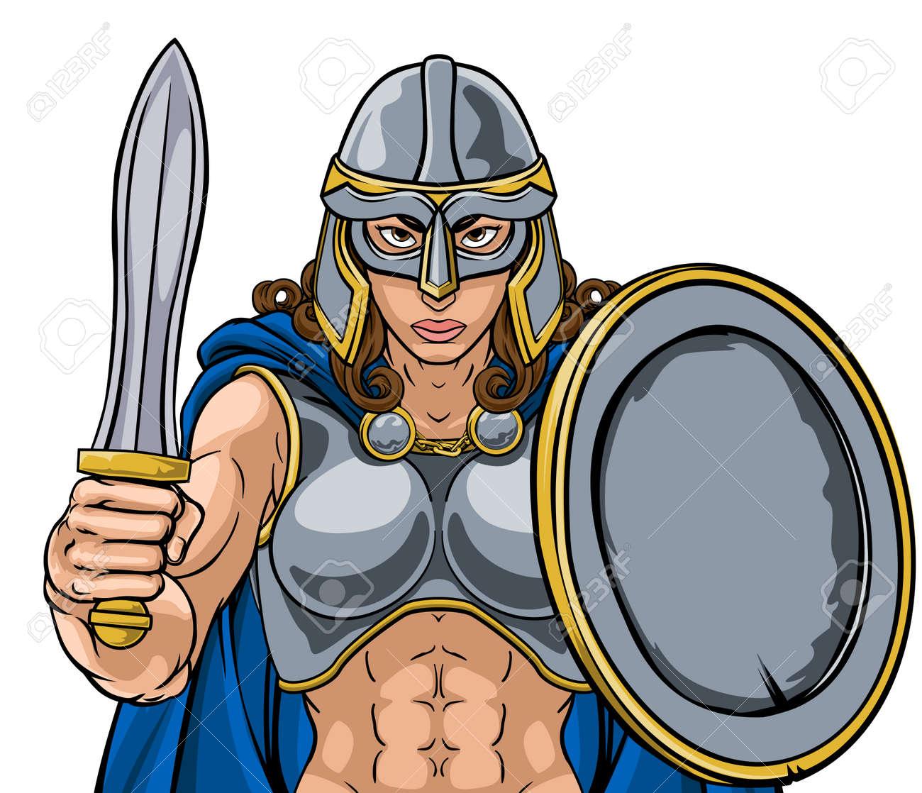 Viking Trojan Spartan Celtic Warrior Knight Woman - 171717426
