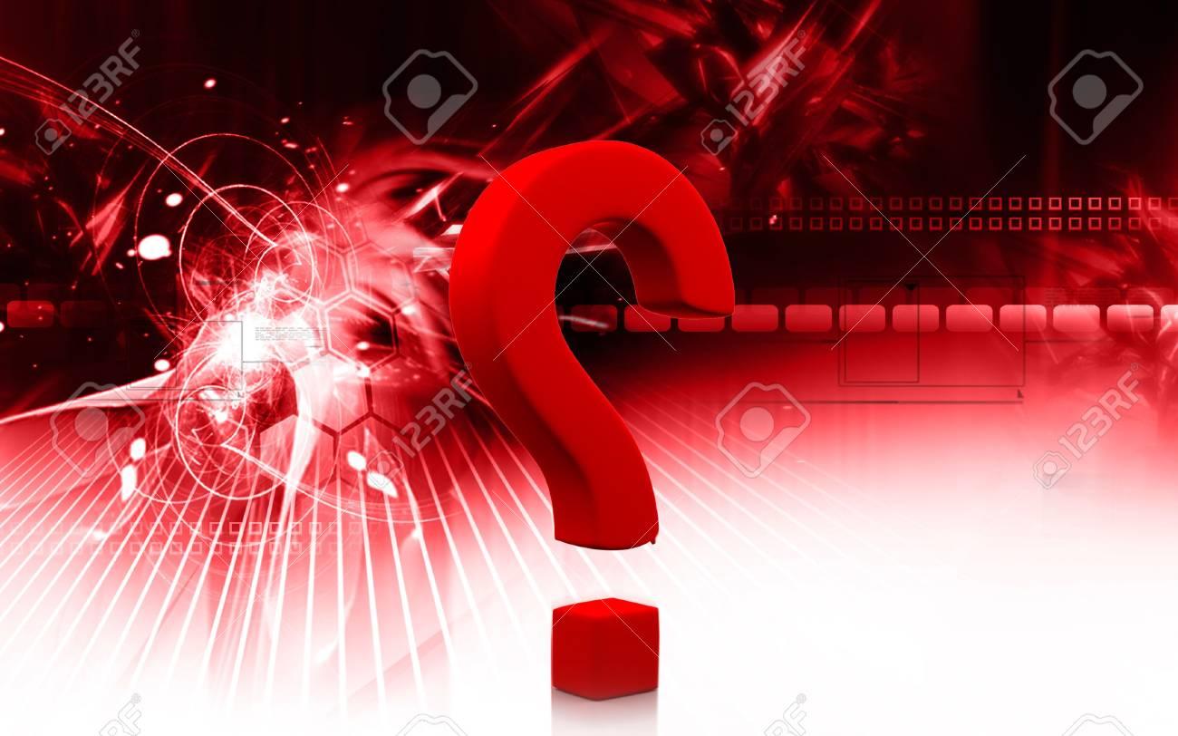 Digital illustration of question mark sign in colour background Stock Illustration - 5786785