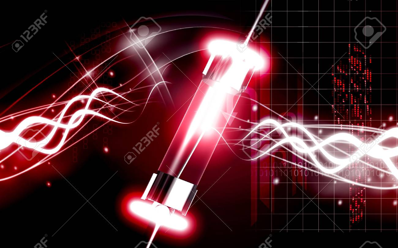Digital illustration of fuse in colour background Stock Photo - 6136329