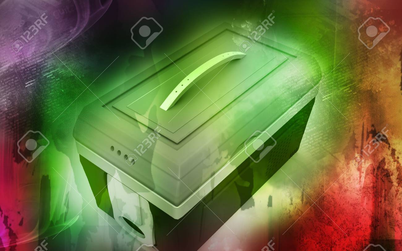 Digital illustration of  a Esky in colour background Stock Photo - 6463860
