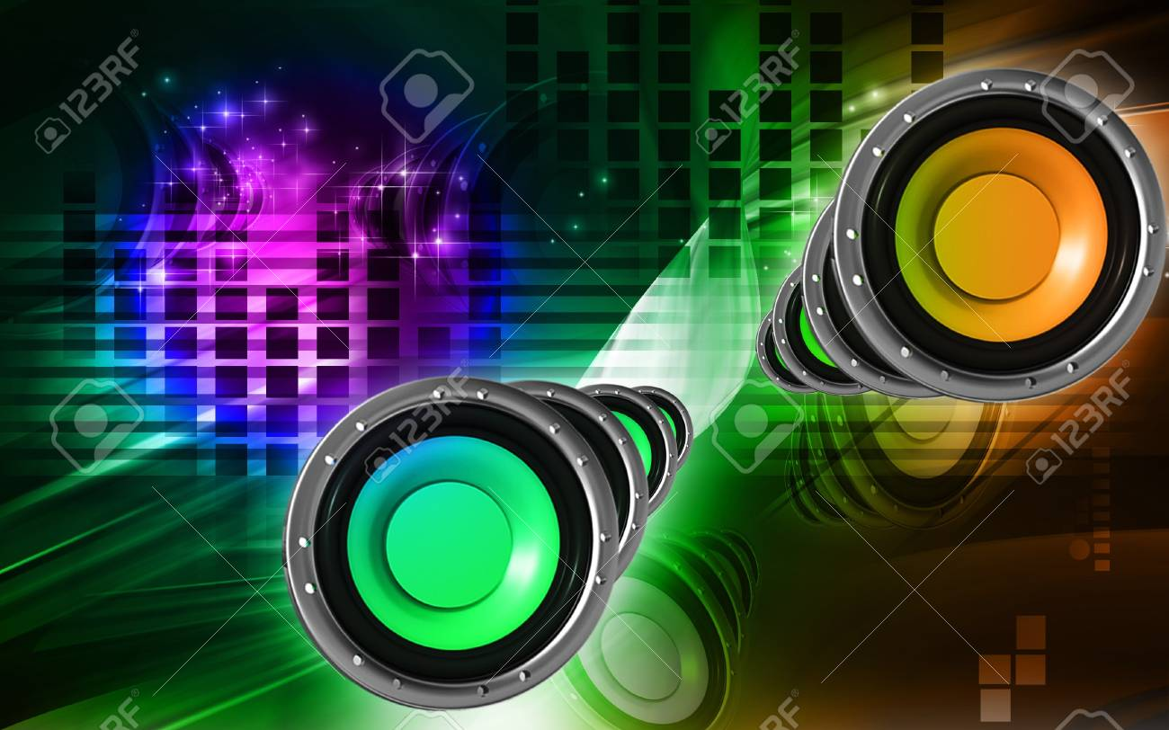 Digital Illustration Of Car Stereo In Colour Background Stock Photo Picture And Royalty Free Image Image 7507726