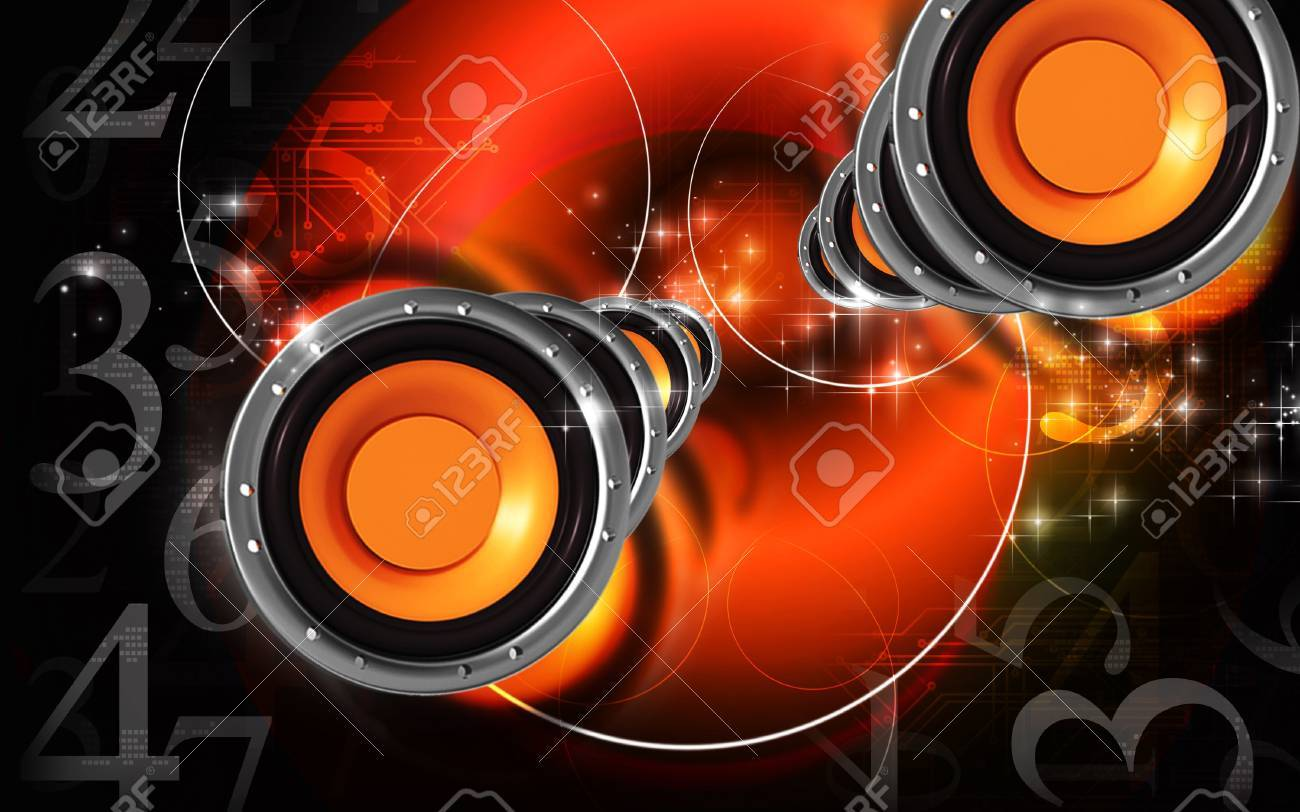 Digital Illustration Of Car Stereo In Colour Background Stock Photo Picture And Royalty Free Image Image 7507725