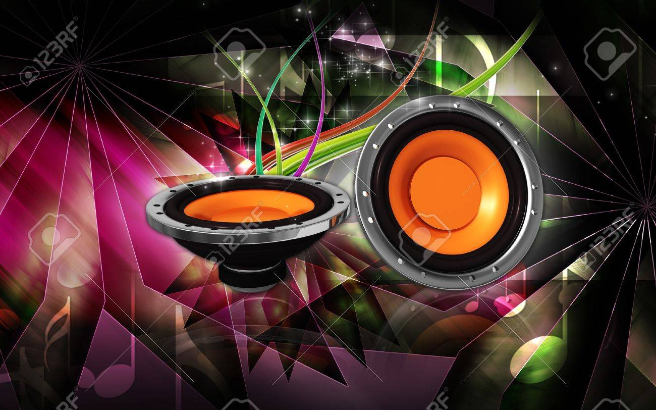 Digital Illustration Of Car Stereo In Colour Background Stock Photo Picture And Royalty Free Image Image 7544006
