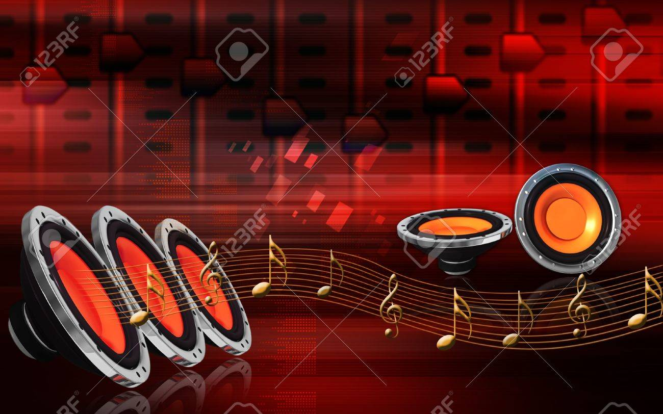 Digital Illustration Of Car Stereo In Colour Background Stock Photo Picture And Royalty Free Image Image 8078082