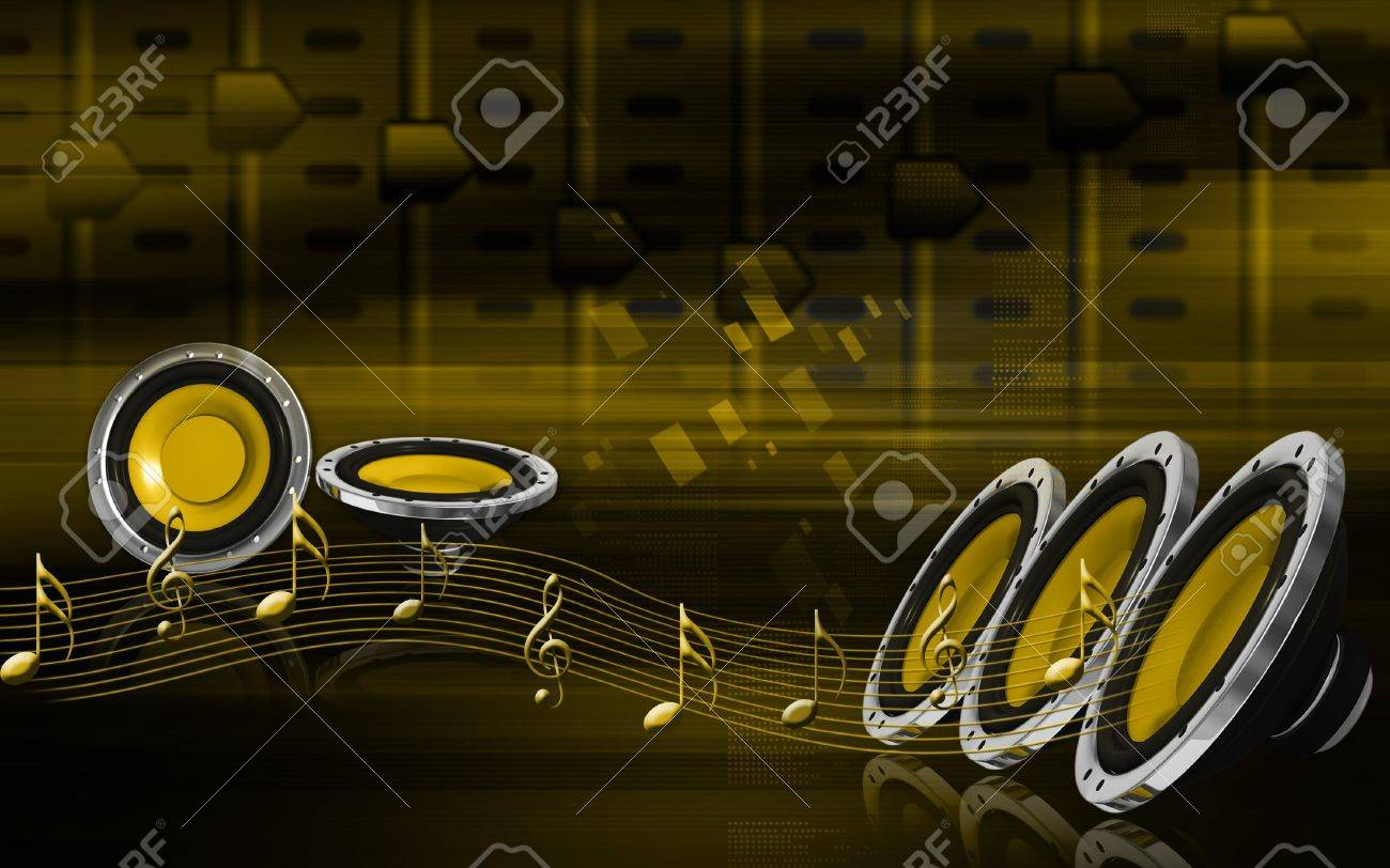 Digital Illustration Of Car Stereo In Colour Background Stock Photo Picture And Royalty Free Image Image 8078081