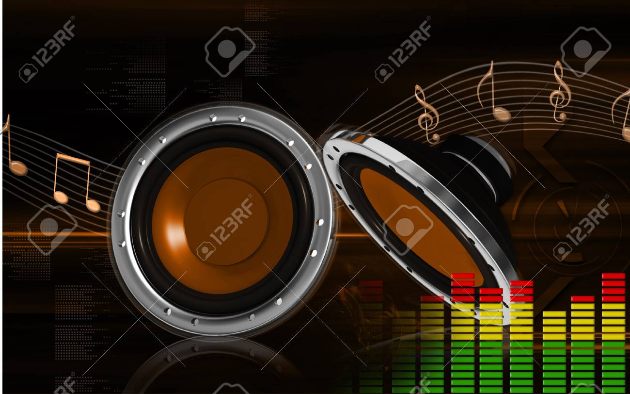 Digital illustration of car stereo in colour background Stock Photo - 8197164