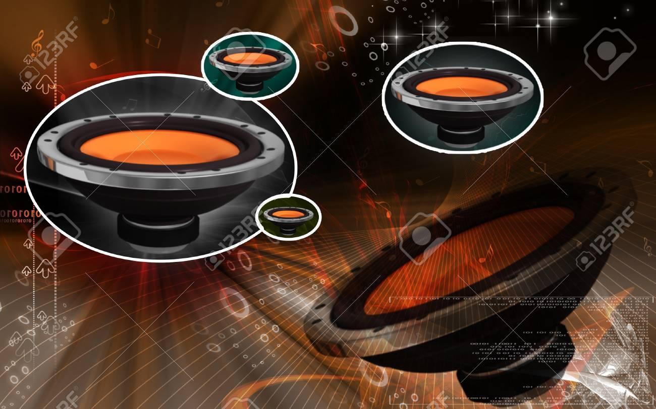 Digital illustration of car stereo in colour background Stock Illustration - 8560832