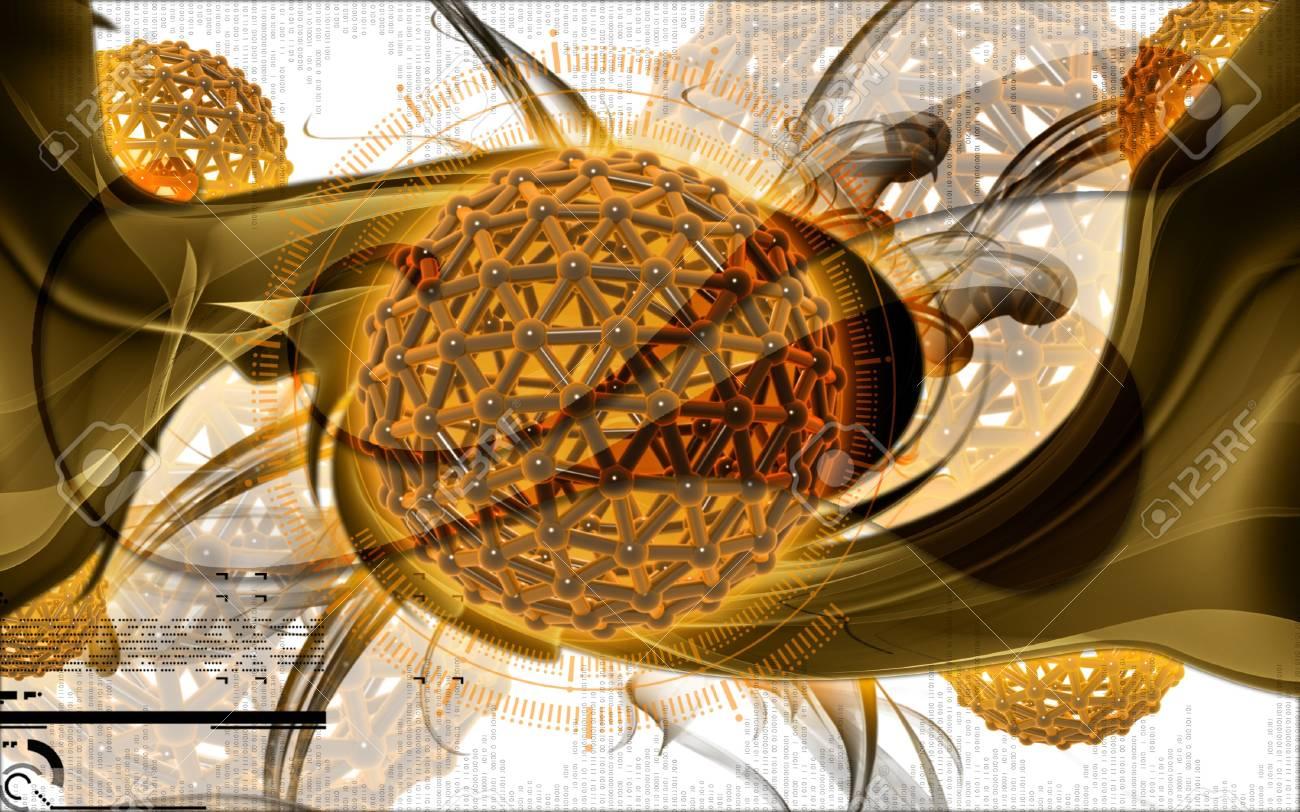 Digital illustration of gene in colour background Stock Photo - 9089091