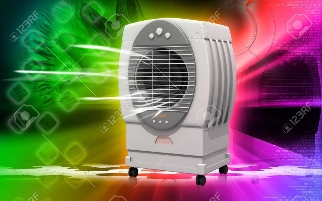Digital illustration of  a Cooler   in background Stock Illustration - 9089283